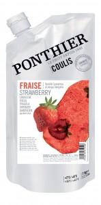 Aardbeien fruitcoulis